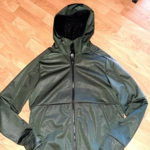 Champion mens jacket size large. Dark green.